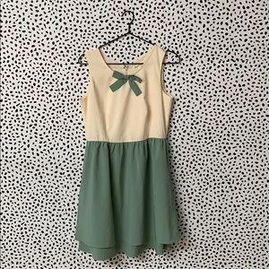 ModCloth Bow Neckline Skater Dress